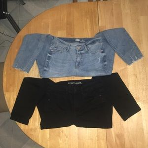 Lot- 2 Old Navy High Waisted Rockstar Skinny Jeans